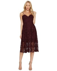 Donna Morgan Chemical Lace Spaghetti Strap Midi Dress