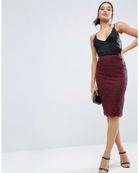 Asos Corded Lace Pencil Skirt