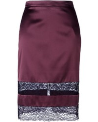 Givenchy Lace Panel Pencil Skirt