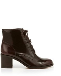 Burgundy lace up ankle boots original 9286271
