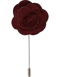 River Island Red Rose Lapel Pin