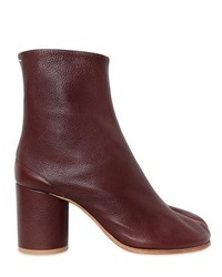 80mm Tabi Tumbled Leather Ankle Boots
