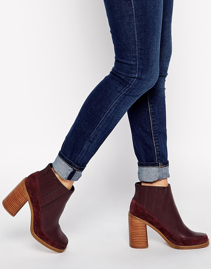 Asos Collection Evil Eye Leather Mix Chelsea Ankle Boots | Where ...