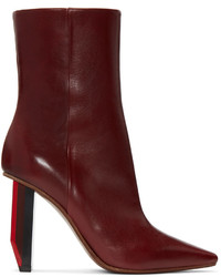 Burgundy reflector heel boots medium 1088132