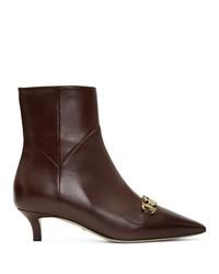 Gucci Burgundy Zumi Boots