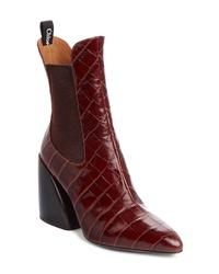 Chloé Croc Embossed Chelsea Boot