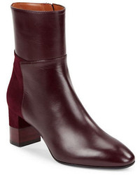 Aquatalia Emery Leather And Suede Ankle Boots