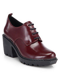 Opening Ceremony Grunge Leather Lace Up Ankle Boots