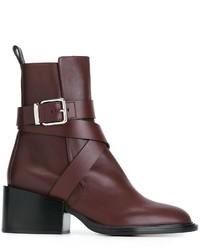 Jil Sander Buckle Strap Ankle Boots