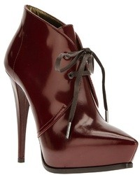 Lanvin Lace Up Stiletto Ankle Boot