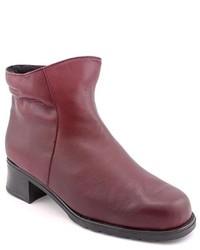 Martino Emilia Burgundy Leather Fashion Ankle Boots Newdisplay