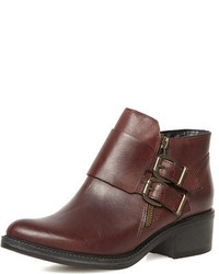 Dorothy Perkins Oxblood Leather Ankle Boots