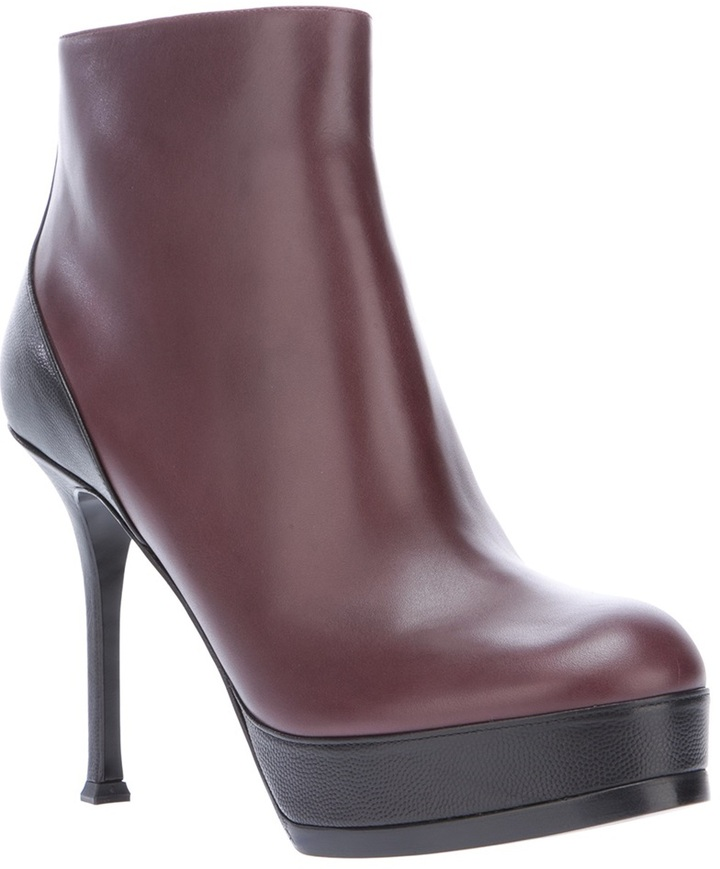 Saint Laurent Tribute Two Platform Ankle Boot