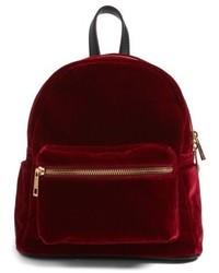 Mini velvet backpack blue medium 4913105