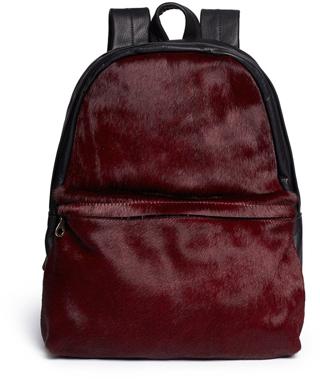 Nobrand Ep Pony Hair Leather Backpack | Where to buy & how to wear