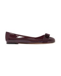 Salvatore Ferragamo Varina Ed Patent Leather Ballet Flats