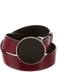 By Malene Birger Crimson Leather Belt Wtags