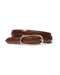 Anderson's Croc Effect Leather Belt