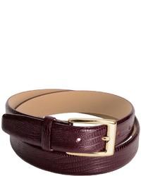 Di Stefano Lizard Print Leather Belt