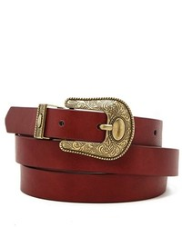 Forever 21 Faux Leather Ornate Belt