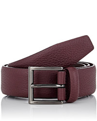 Barneys New York Grained Leather Belt