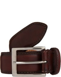 Harris Burnished Leather Belt Red