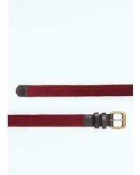 Mango Outlet Leather Appliqu Elastic Belt