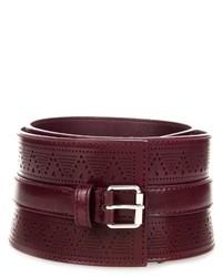 Alexander McQueen Perforated Leather Corset Belt