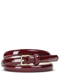 Merona Skinny Belt Burgundy Tm