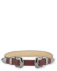 Vince Camuto Buckled Leather Belt