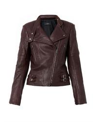 Joseph Bubble Leather Biker Jacket