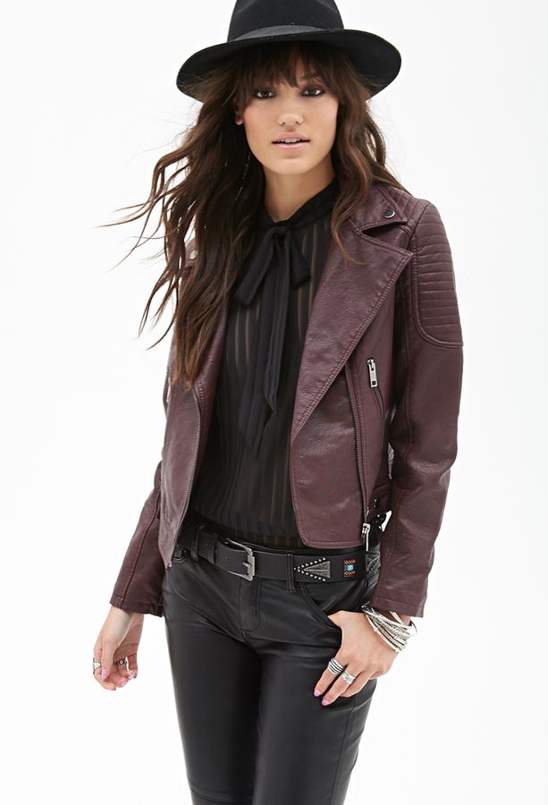 2d9acfd33 Faux Leather Moto Jacket
