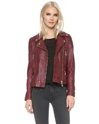Leather moto jacket medium 348695