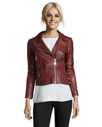 989f43e42ff375 No Brand Coffeeshop Black Fringe Faux Leather Moto Jacket Out of stock ·  Doma Leather Moto Jacket With Lapel And Straps Adjust The Hip Hem