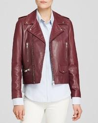 N. N Nicholas Jacket Leather Zip Biker
