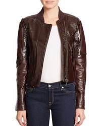 Theory Shezi Polished Leather Moto Jacket