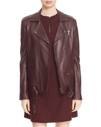 Theory Tralsmin Wilmore Lambskin Leather Moto Jacket