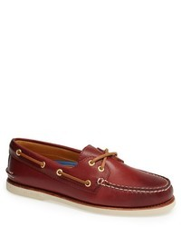 Burgundy Leather Boat Shoes