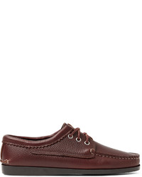 Quoddy Blucher Full Grain Leather Boat Shoes