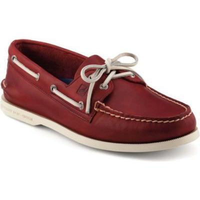 Sperry Topsider Shoes Authentic Original Boat Shoe Red Leather ...