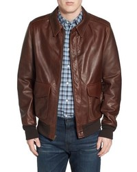 Schott NYC A 2 Pebbled Leather Bomber Jacket