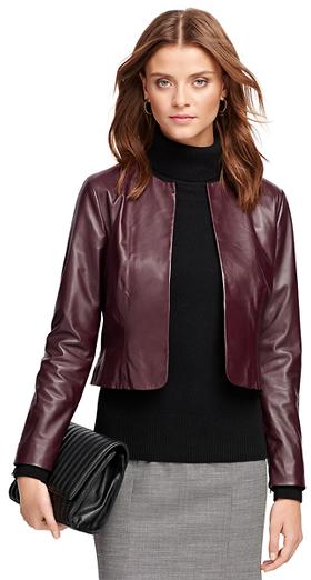 07d2e521f $598, Brooks Brothers Leather Jacket