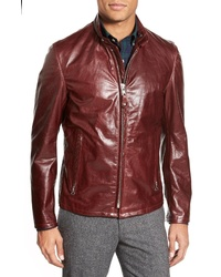 Schott NYC Cafe Racer Waxy Cowhide Leather Jacket