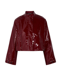 624125827 Burgundy Leather Bomber Jackets for Women | Women's Fashion ...