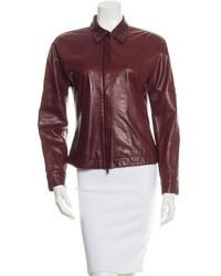 Jil Sander Leather Collar Jacket