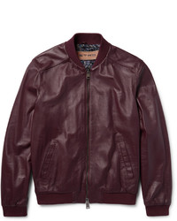 Etro Nappa Leather Bomber Jacket