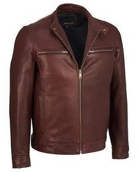 Wilsons Leather Open Bottom Leather Cycle Jacket W Snap Tab Collar