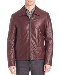 Canali Reversible Leather Jacket