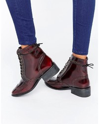 Asos Amar Leather Lace Up Brogue Boots