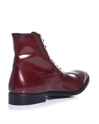 Alexander McQueen Leather Oxford Boots